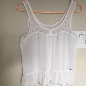White strapless airy blouse with gold beading